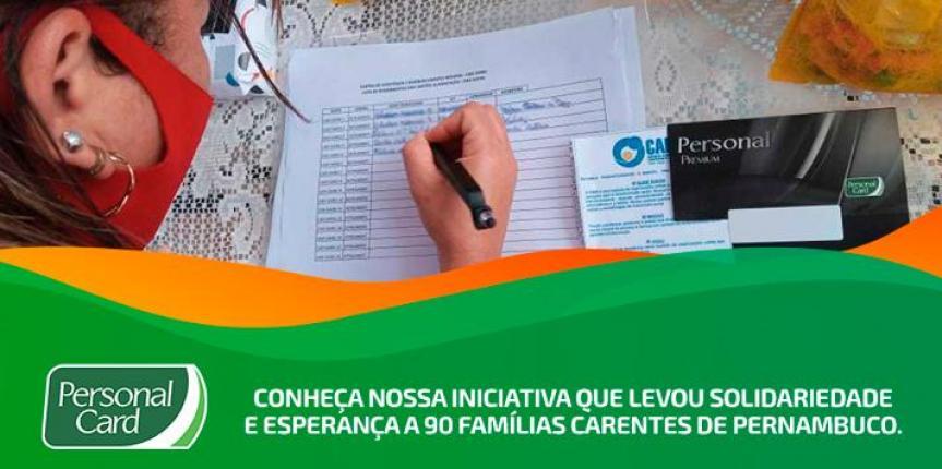 Parceria com a ONG CADI, Banco Itaú e Personal Card entrega cartão Premium para 90 famílias