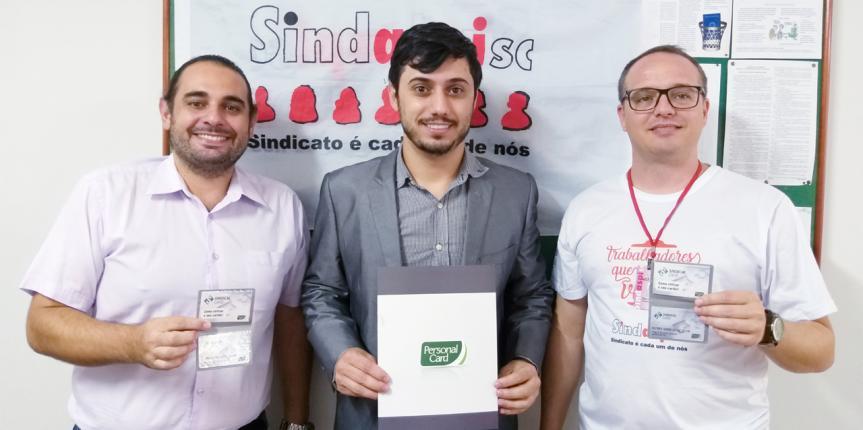 Personal Card fecha parceria com Sindaspi-SC com todos os benefícios oferecidos pelo Sindicalcard.
